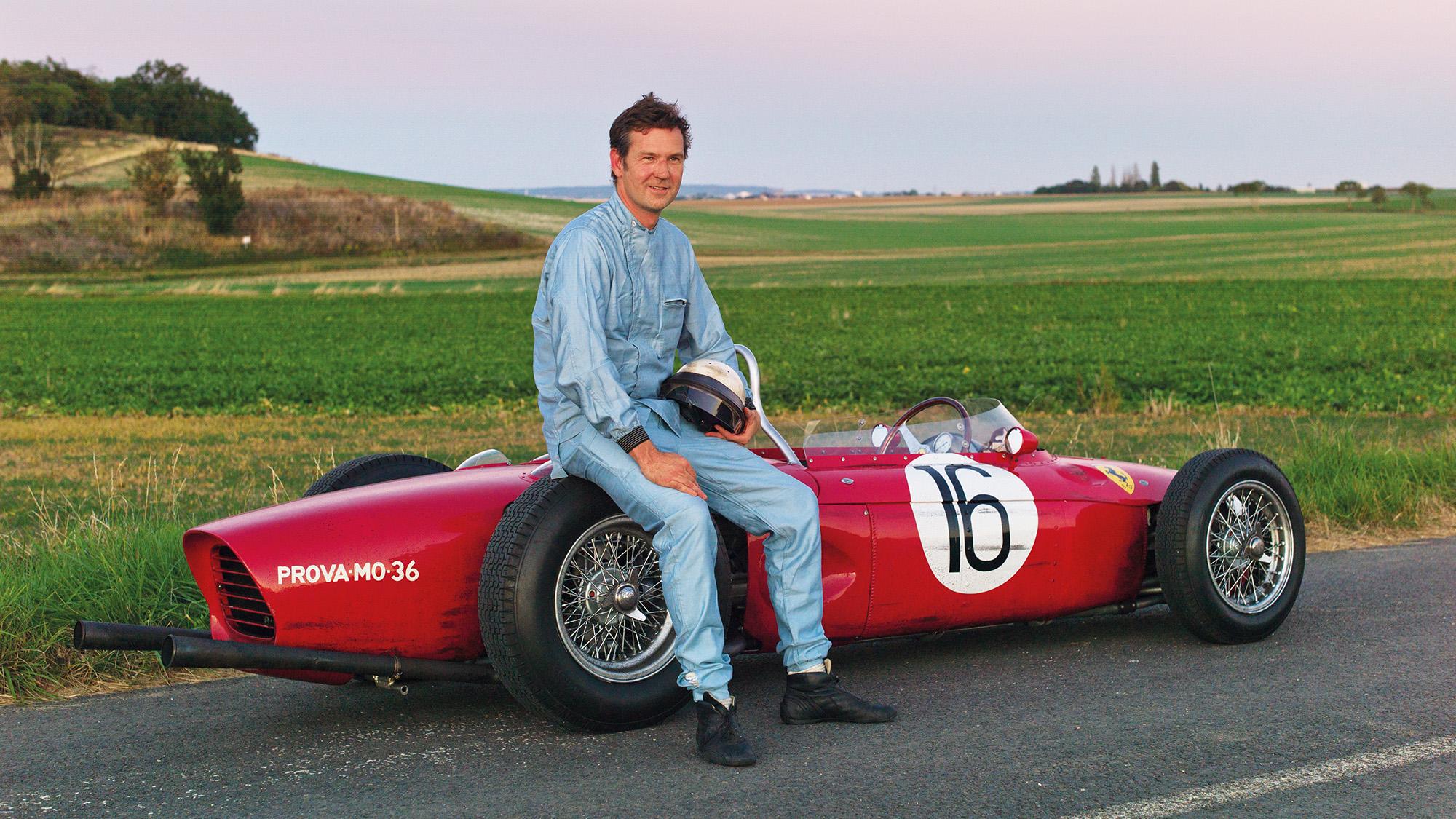 Derek Hill with Ferrari Sharknose
