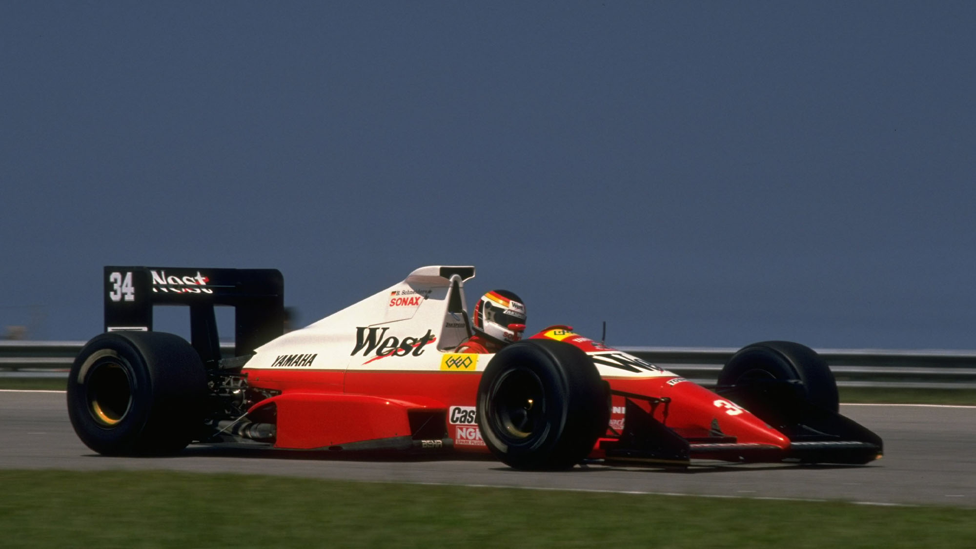 1989: Bernd Schneider of Germany in action in his Zakspeed Yamaha before the Brazilian Grand Prix at the Rio circuit in Brazil. Schneider did not qualify. \ Mandatory Credit: Pascal Rondeau/Allsport