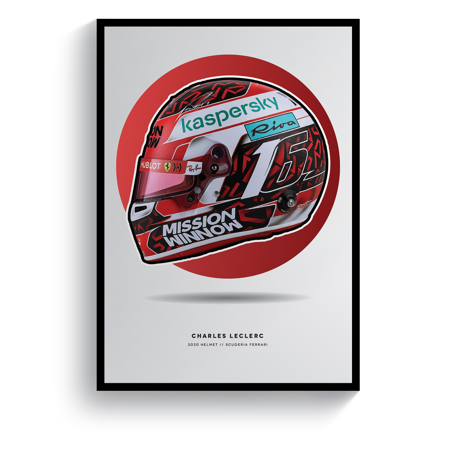 Product image for Charles Leclerc | 2020 Helmet | Pit Lane Prints | Art Print