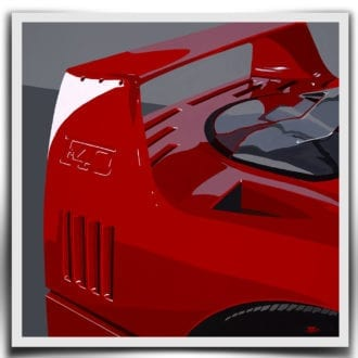 Product image for Ferrari F40 - 1990   Jean-Yves Tabourot   Limited Edition print