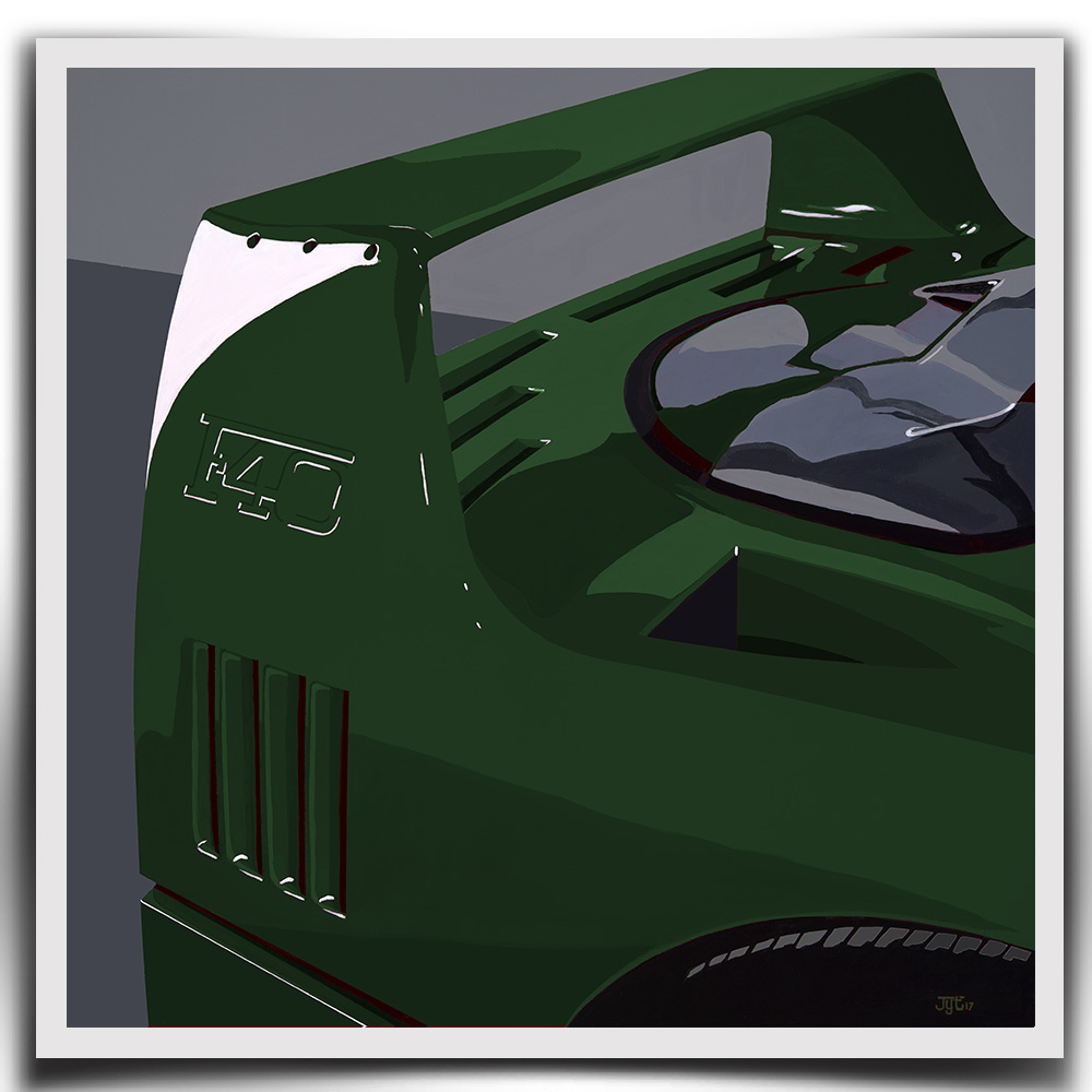 Product image for Ferrari F40 - Verde Abetone - 1990 | Jean-Yves Tabourot | Limited Edition print