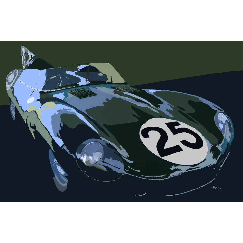 Product image for 393 RW | Jaguar D-Type 1956| Jean-Yves Tabourot | Acrylic on Canvas