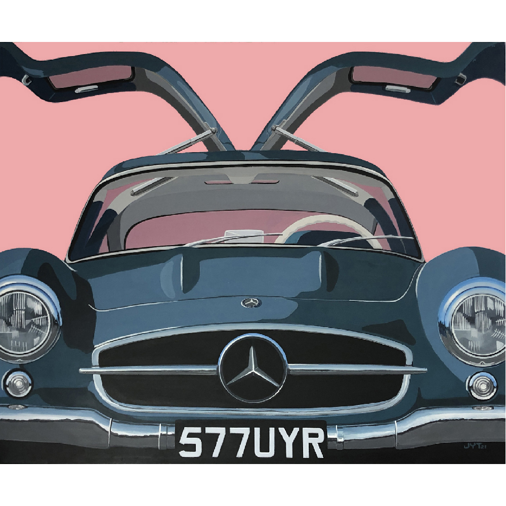 Product image for Gullwing | Mercedes 300 SL – 1955 | Jean-Yves Tabourot | Acrylic on canvas