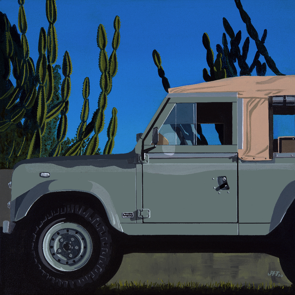 Product image for CoolnVintage | Land Rover Defender | Jean-Yves Tabourot | Acrylic on canvas