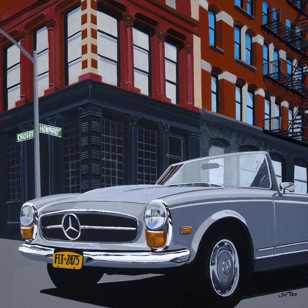Product image for Howard & Crosby | Mercedes 280 SL | Jean-Yves Tabourot | Acrylic on Canvas