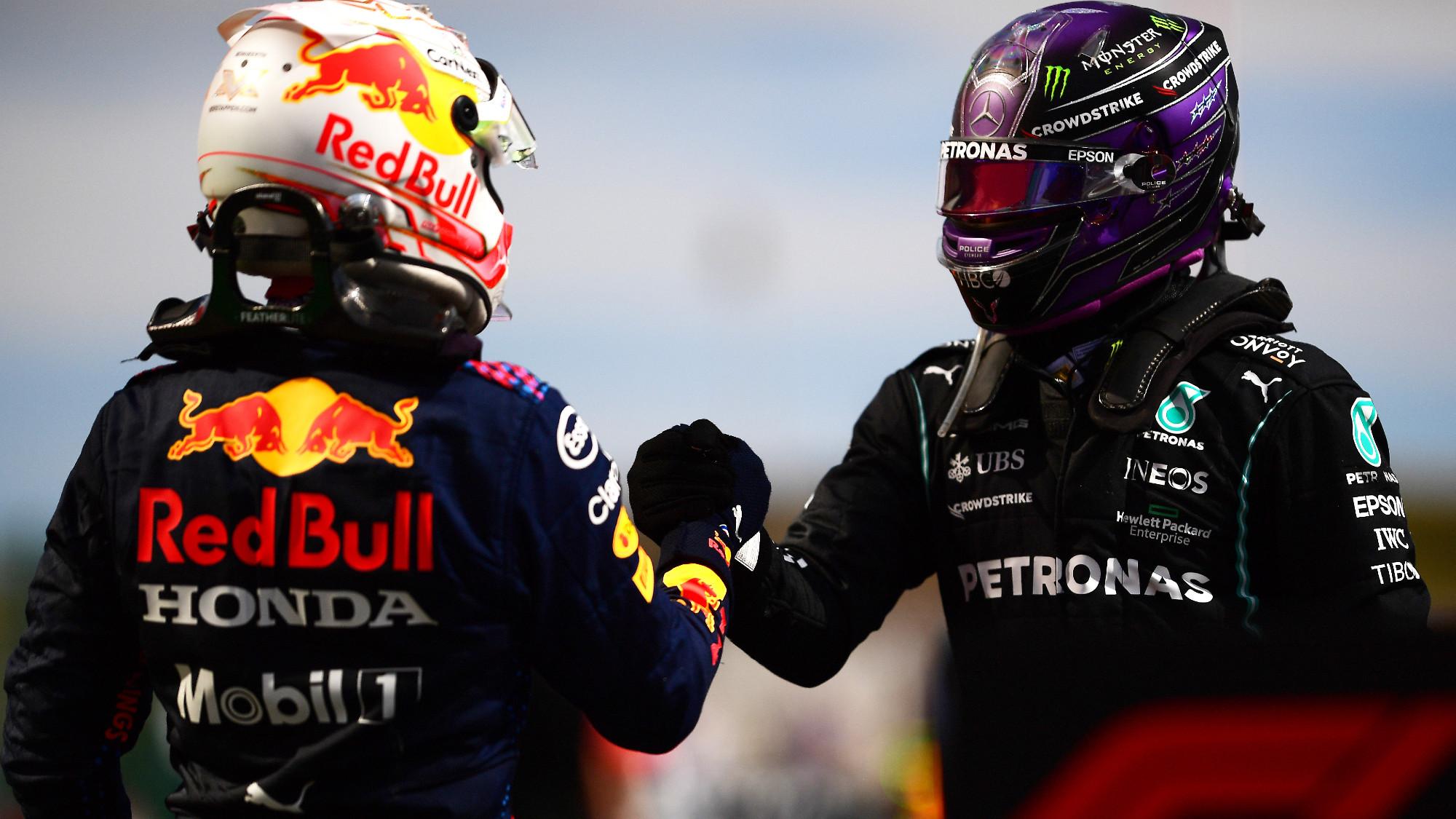 Max Verstappen, Lewis Hamilton, 2021 Portuguese GP
