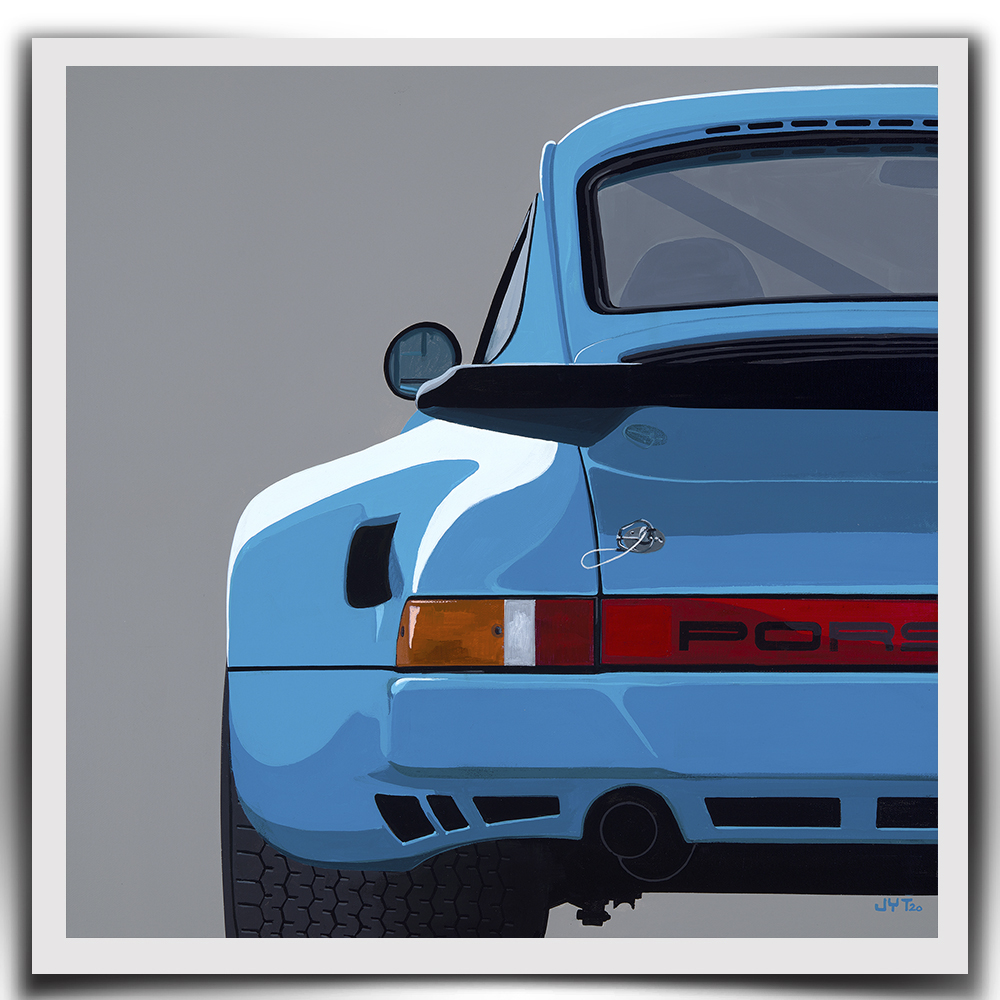 Product image for Mexico Blue | Porsche 911 3.0 RSR - 1974 | Jean-Yves Tabourot | Limited Edition print