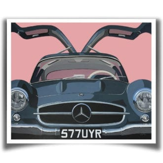 Product image for Gullwing | Mercedes 300 SL – 1955 | Jean-Yves Tabourot | Limited edition Print
