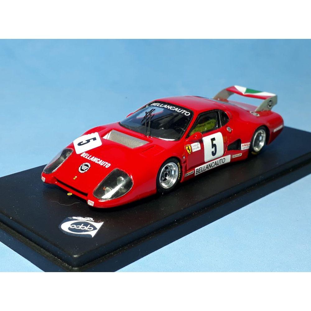Product image for Ferrari 512BB IMSA-GTX | Ch.35529 Bellancauto Mugello 6 hours 1982 | #5 Violati/Truffo Remember Models | 1:43 model