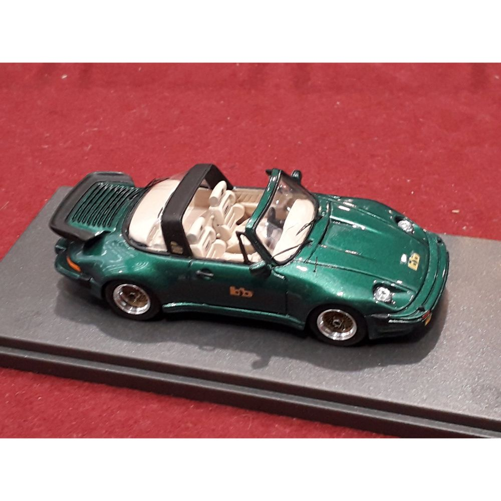 Product image for Porsche 911 Turbo Targa Buchmann Special | 1980 metallic green with cream interiors | REMEMBER Models | 1:43 - Factory built