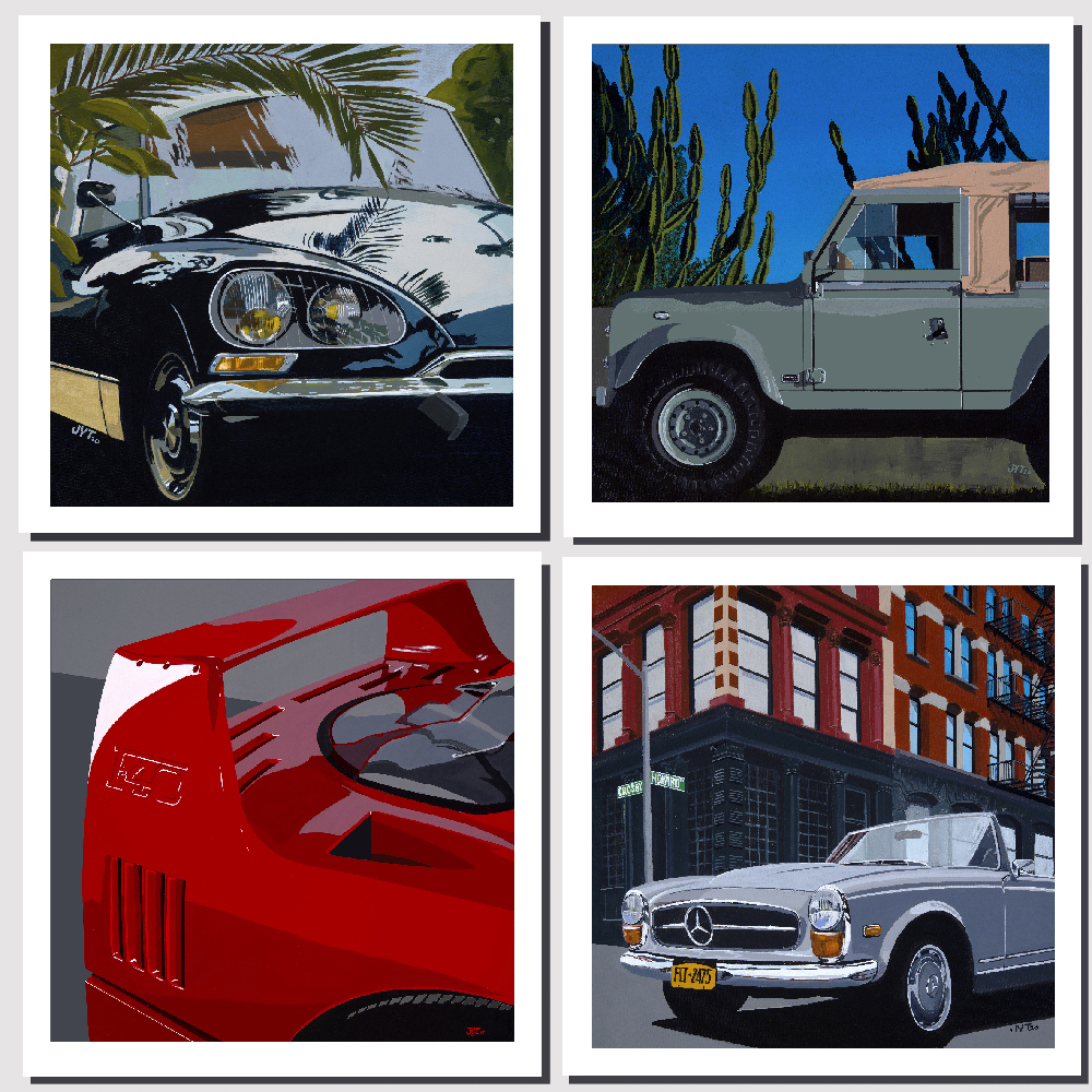 Product image for Euro Icons | Quadriptych | Jean-Yves Tabourot | Limited Edition print