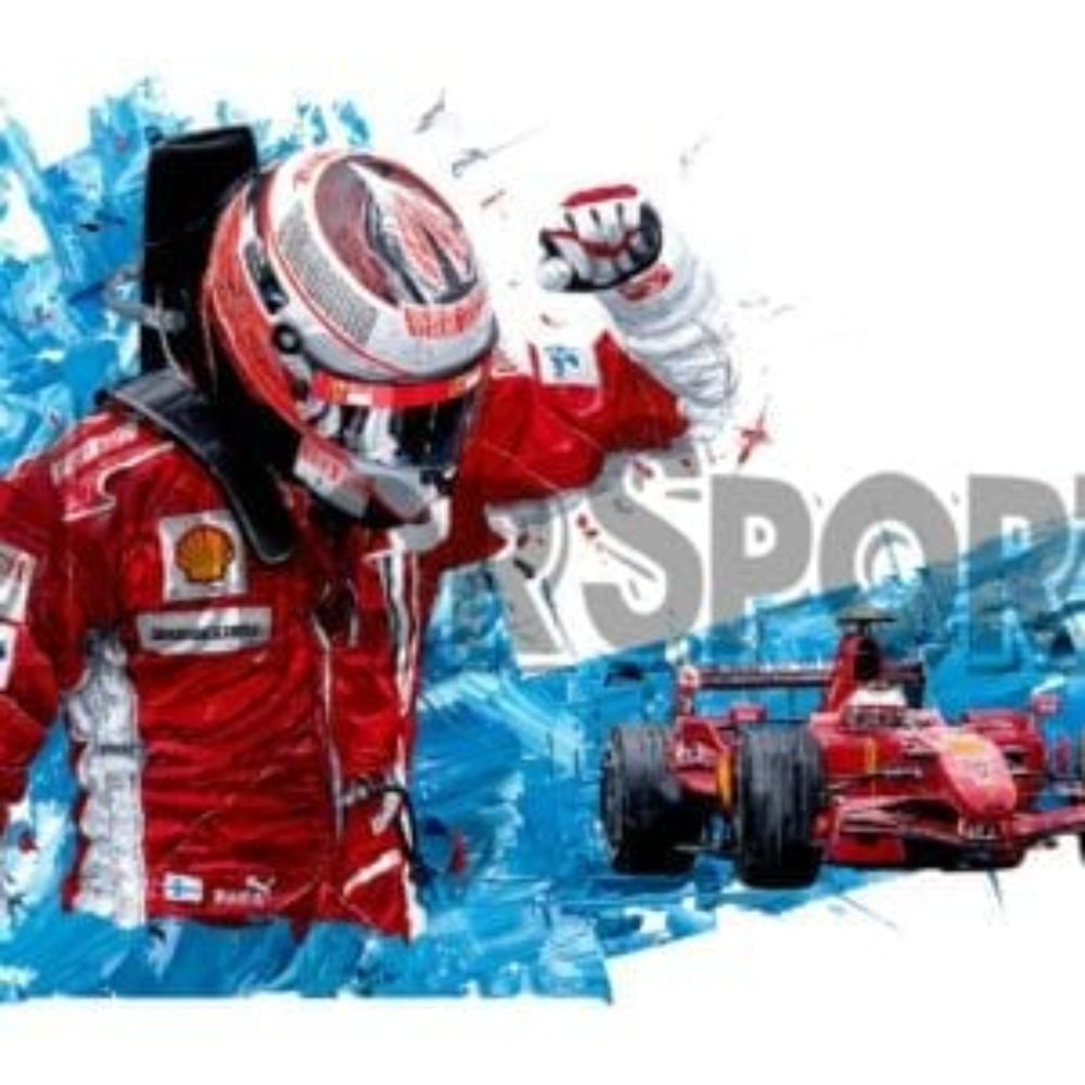 Product image for Kimi Raikkonen  -  Ferrari - 2007 F1 World Champion | David Johnson | Limited Edition print