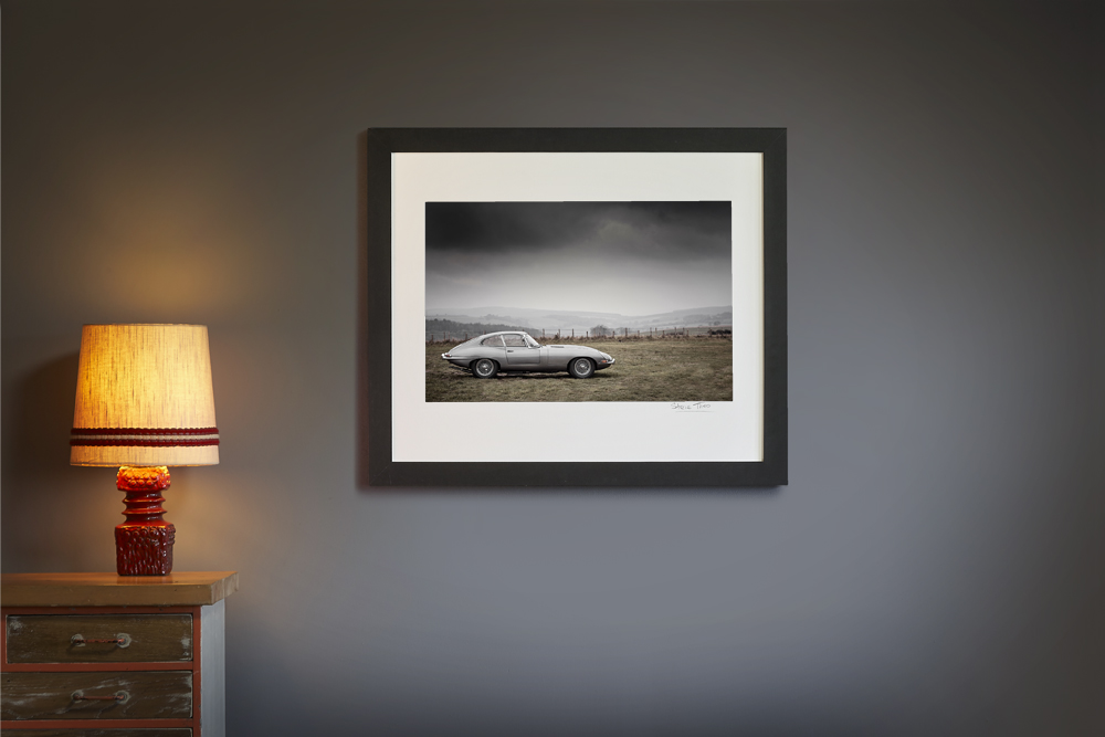 Product image for E-Type Jaguar Landscape | Steve Theo