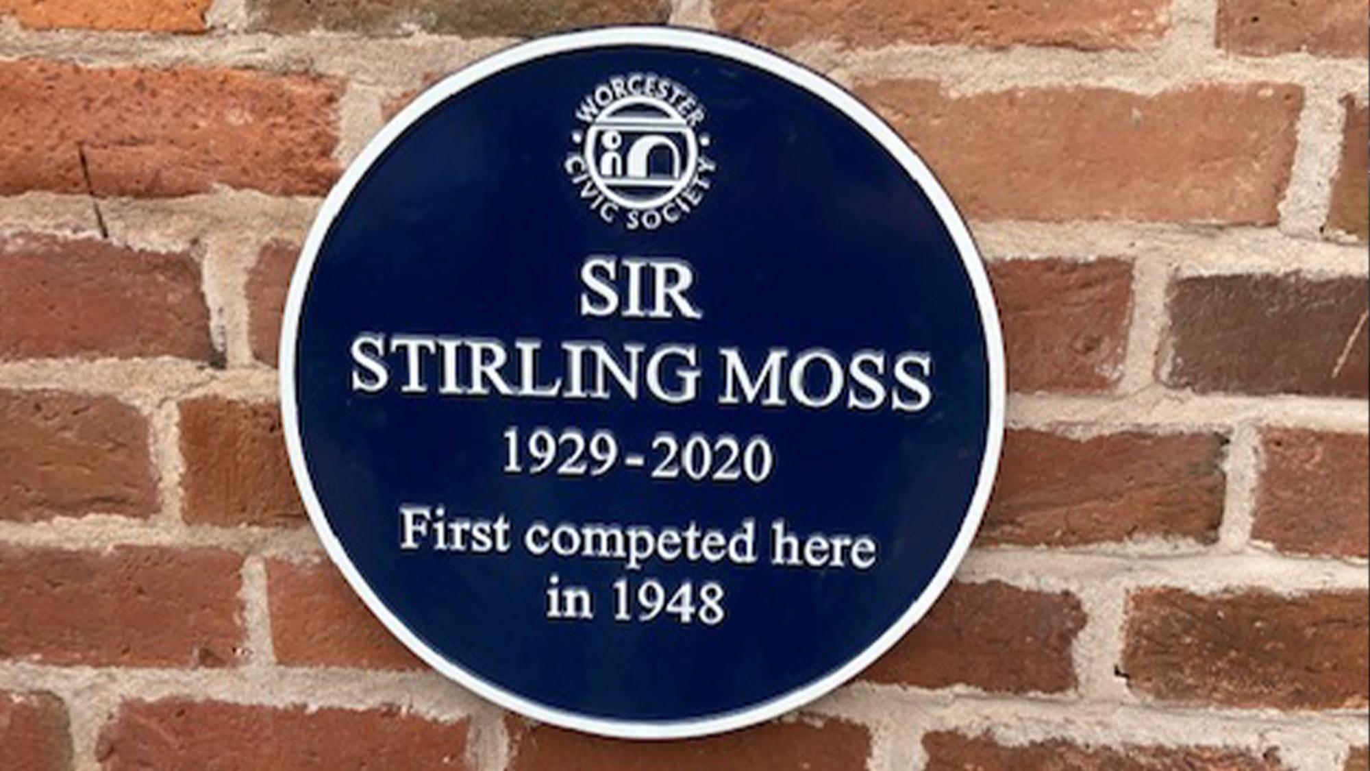 Stirling Moss blue plaque