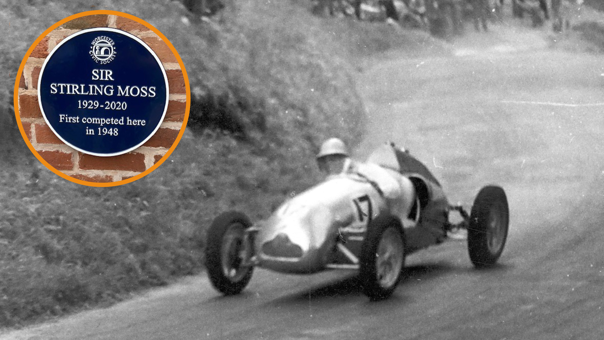 Blue plaque unveiled at Shelsley Walsh in honour of Sir Stirling Moss