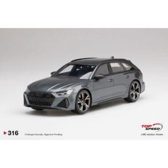 Product image for Audi RS 6 Avant Carbon Black   Daytona Grey   1/18