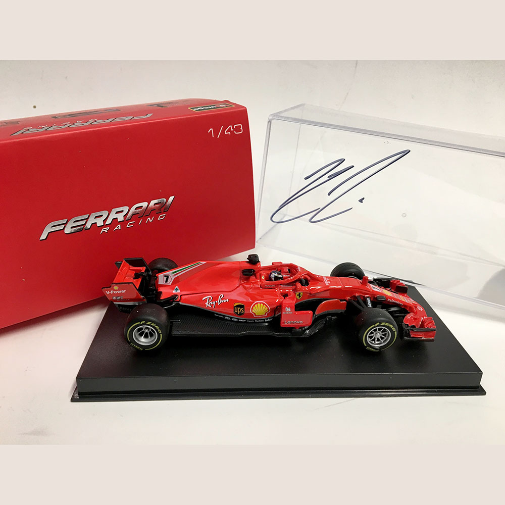 Product image for Kimi Räikkönen signed Ferrari SF71H, 1:43 cased