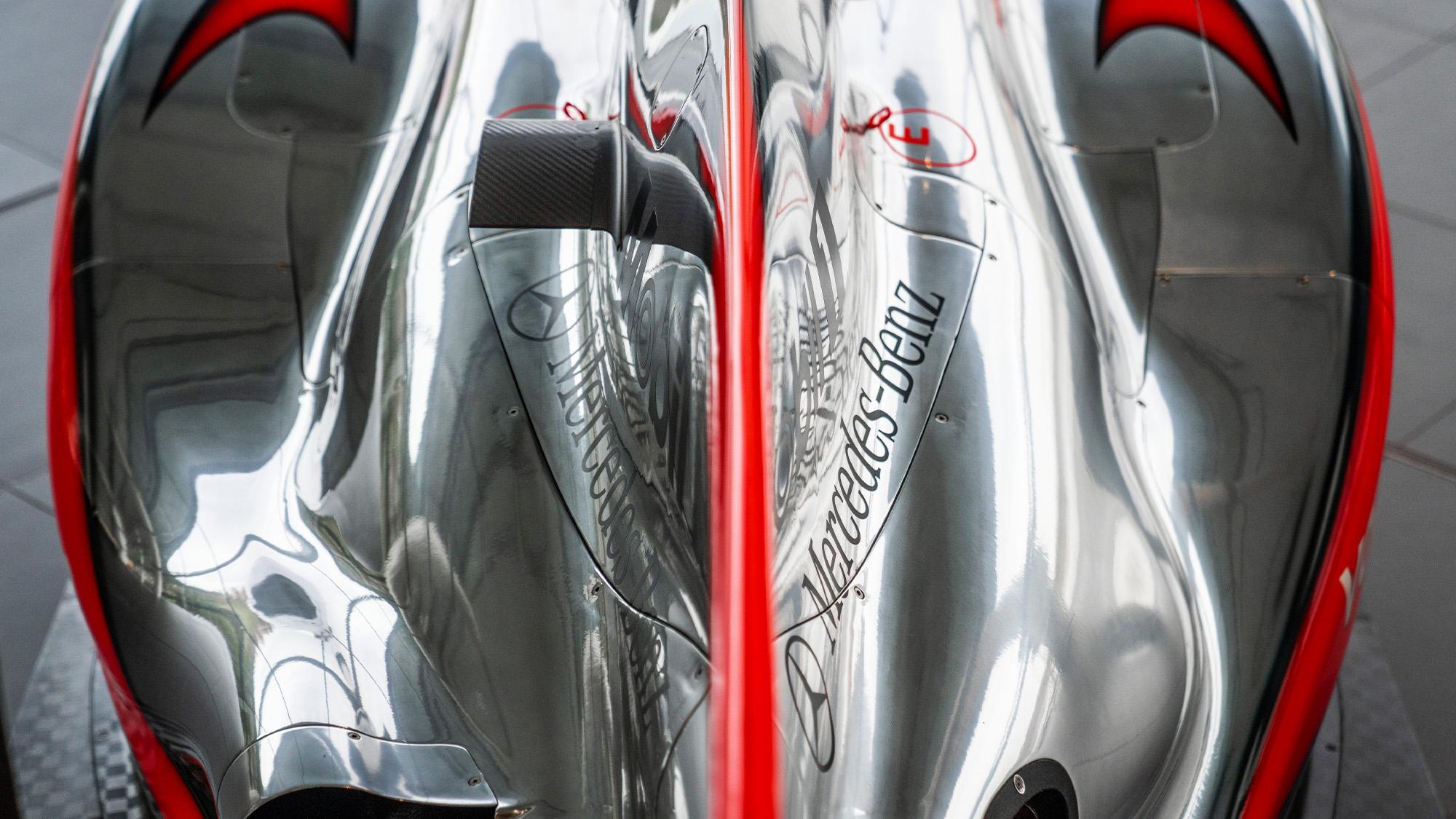 Lewis Hamilton McLaren MP4-25 for auction engine cover