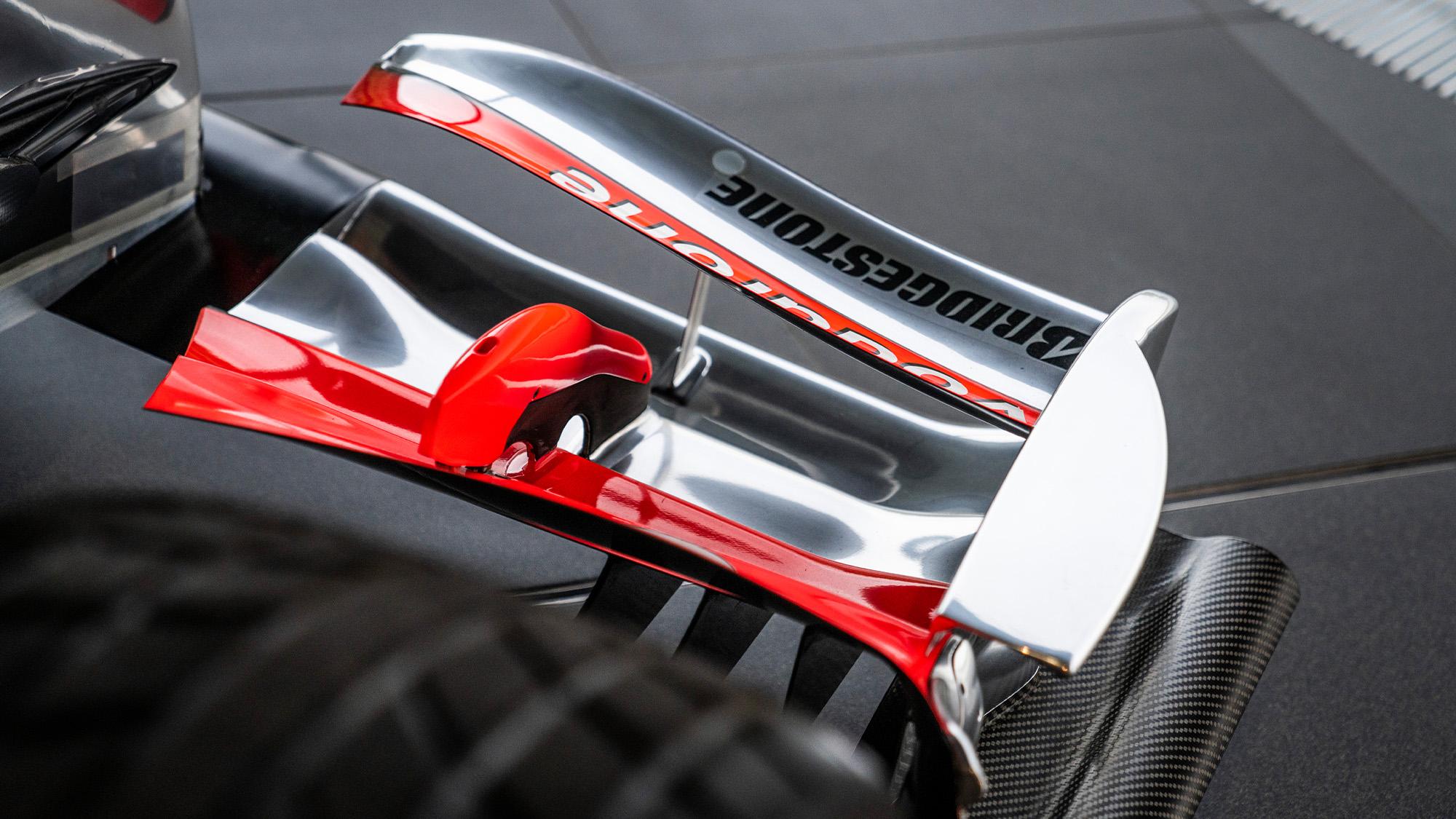 Lewis Hamilton McLaren MP4-25 for auction front wing detail