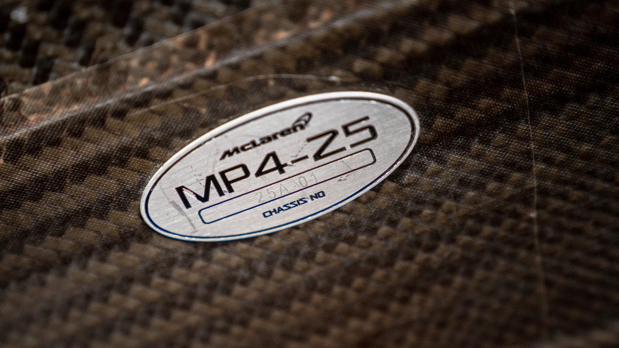 Lewis Hamilton McLaren MP4-25 for auction chassis no