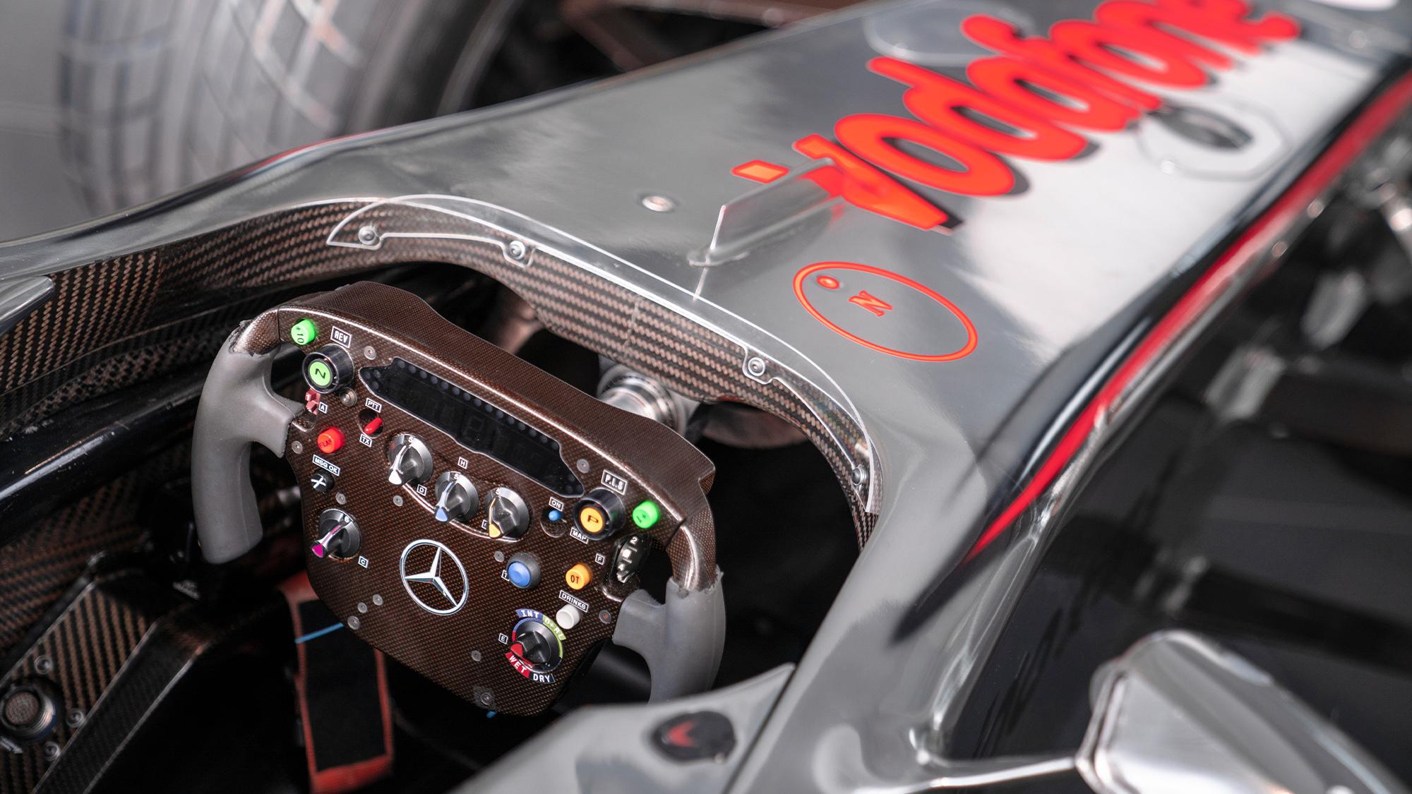 Lewis Hamilton McLaren MP4-25 for auction - cockpit