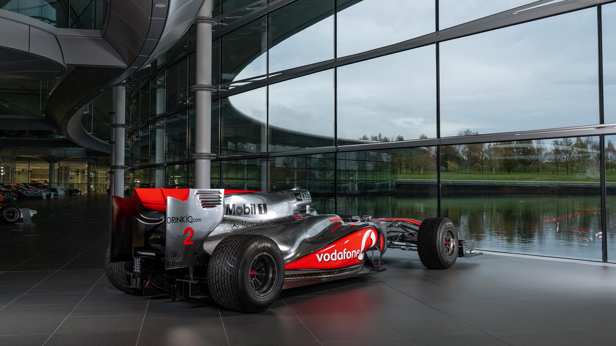 Lewis Hamilton McLaren MP4-25 for auction rear tq