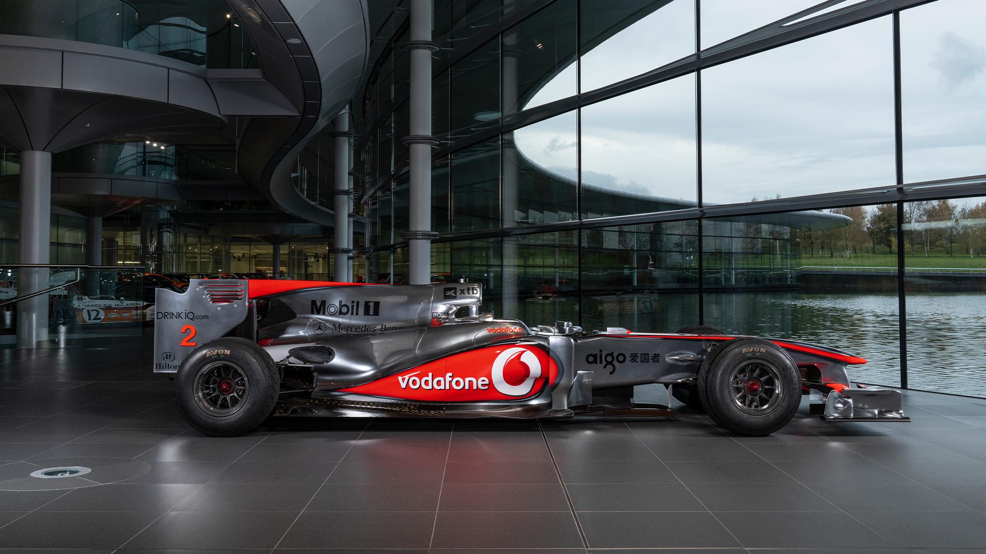 Lewis Hamilton McLaren MP4-25 for auction side view