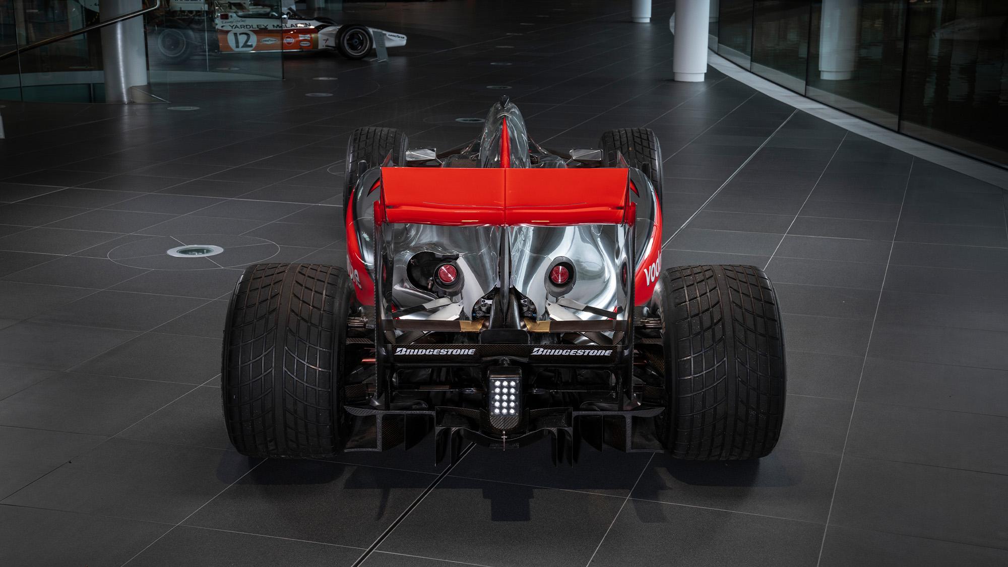 Lewis Hamilton McLaren MP4-25 for auction rear view