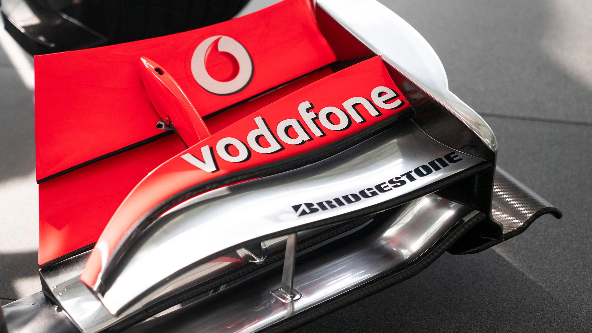 Lewis Hamilton McLaren MP4-25 for auction front wing detail 2
