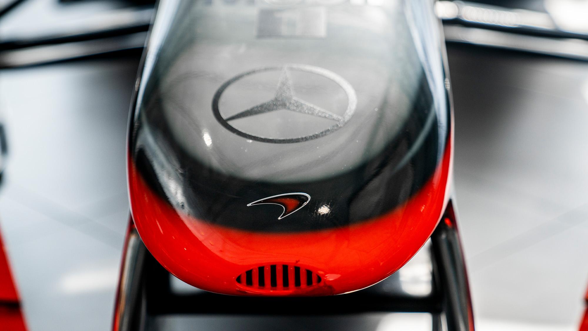 Lewis Hamilton McLaren MP4-25 for auction nose detail