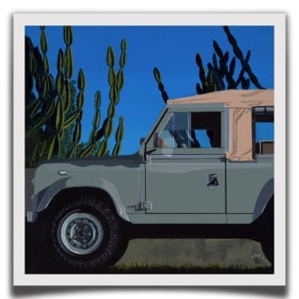Product image for Cool n Vintage | Land Rover Defender by CoolnVintage | Jean-Yves Tabourot | Limited Edition print