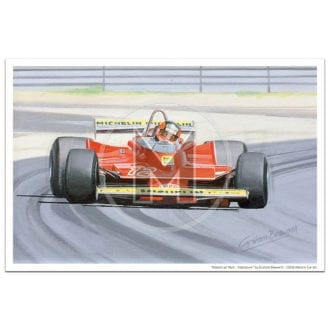Product image for Masters at Work | Villeneuve and Ferrari 312T4 | Print