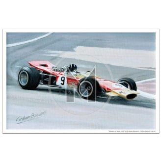 Product image for Masters at Work | Hill and Lotus 49 | Print