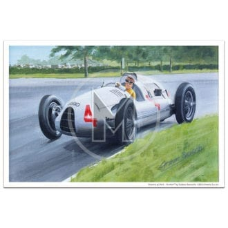 Product image for Masters at Work | Nuvolari and Auto Union D | Print