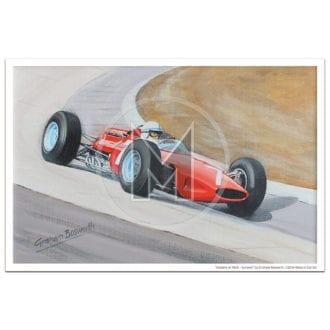 Product image for Masters at Work | Surtees and Ferrari 312 | Print