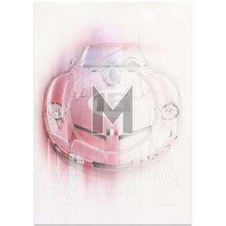 Product image for Ferrari 250 GT SWB Breadvan | Le Mans 24 Hours | Art Print