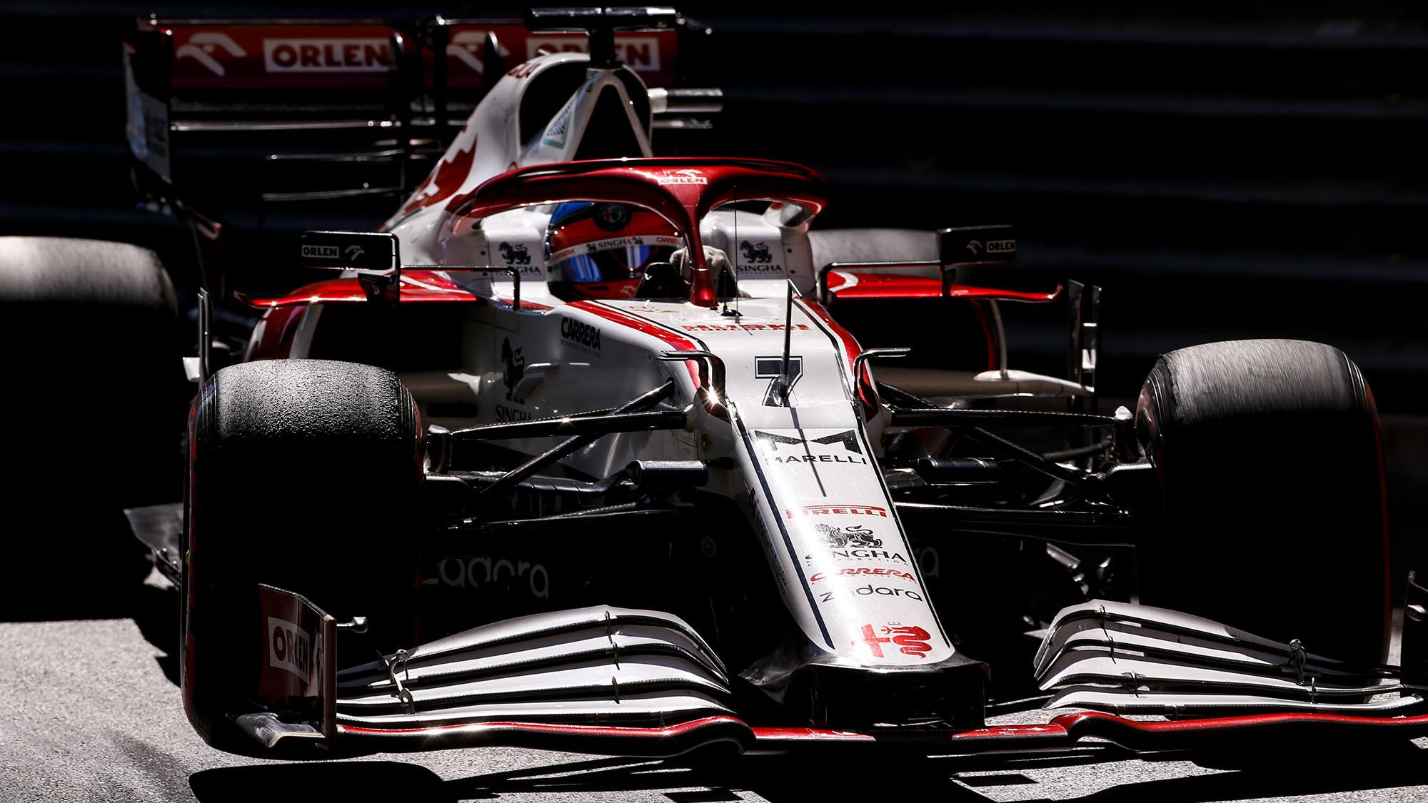 07 RAIKKONEN Kimi (fin), Alfa Romeo Racing ORLEN C41, action during the 2021 Formula One World Championship, Grand Prix of Monaco from on May 20 to 23 in Monaco - Photo DPPI