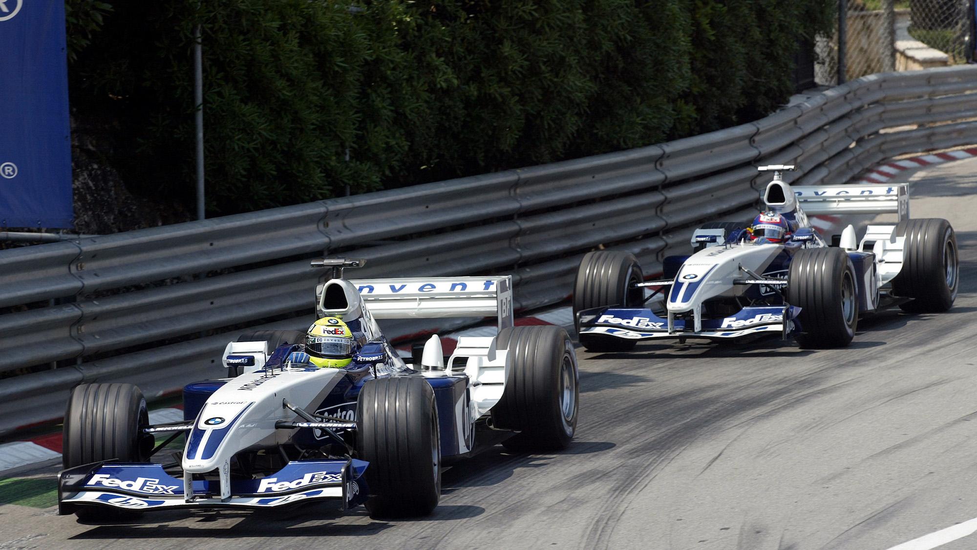 Ralf Schumacher ahead of Juan Pablo Montoya in the 2003 Monaco Grand prix