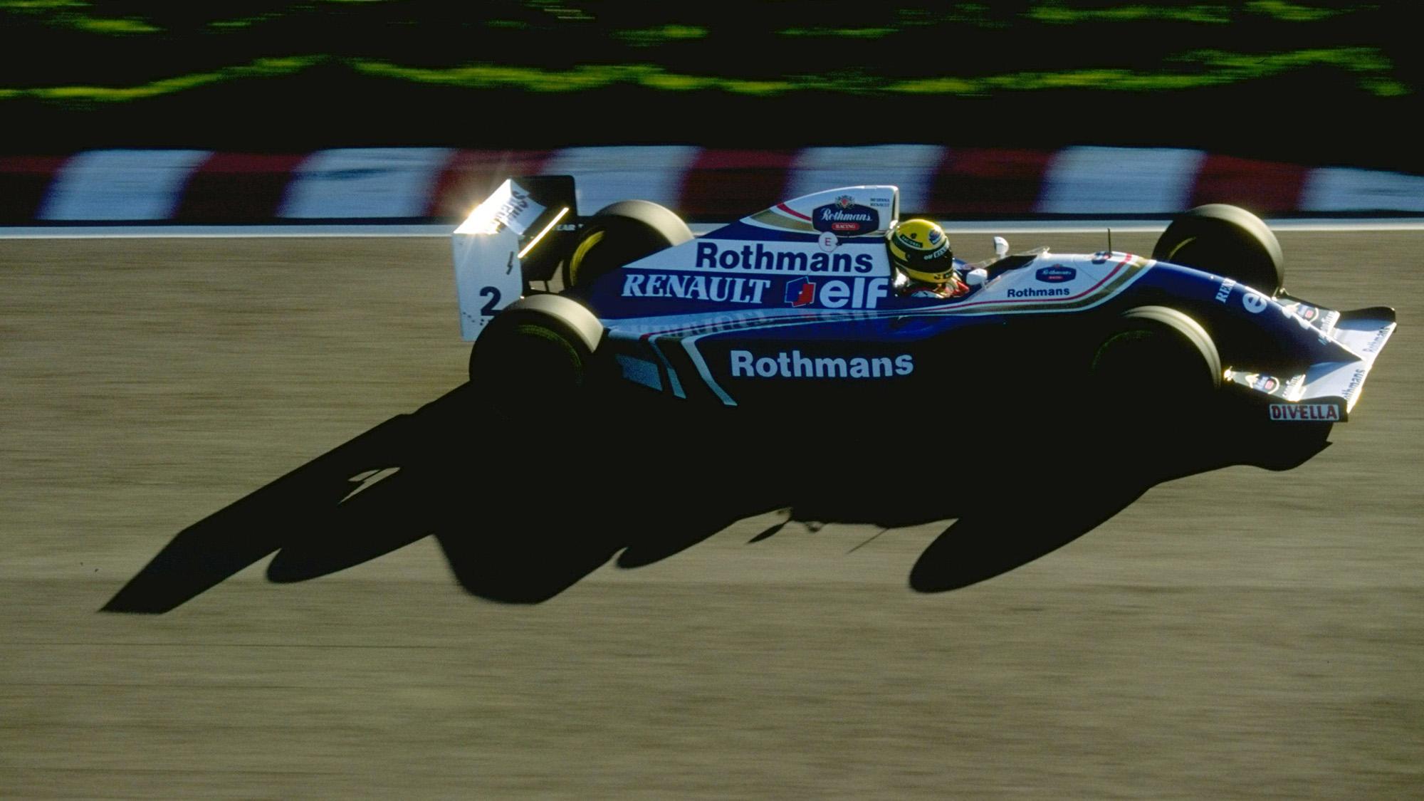 Ayrton Senna tests the 1994 Williams