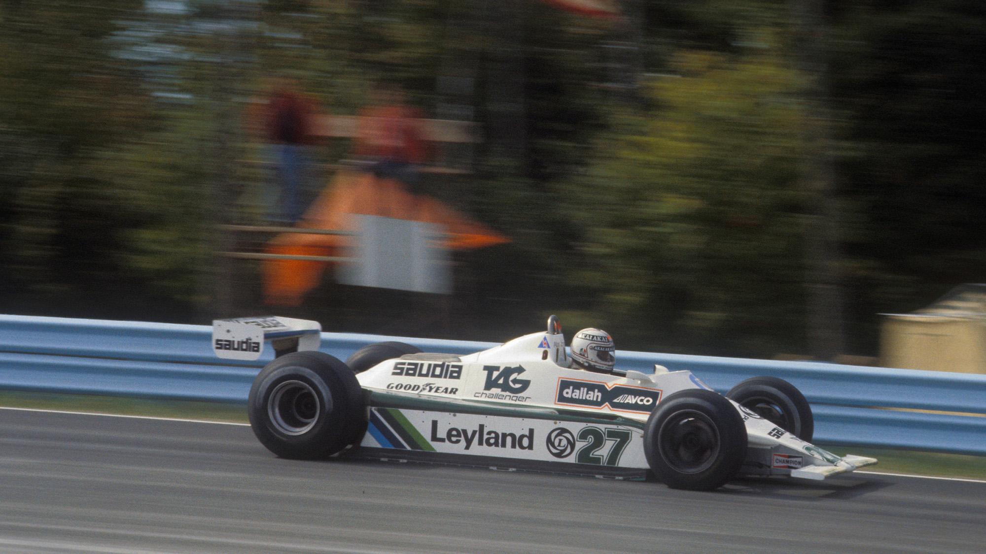 Williams of Alan Jones in the 1980 US Grand Prix East