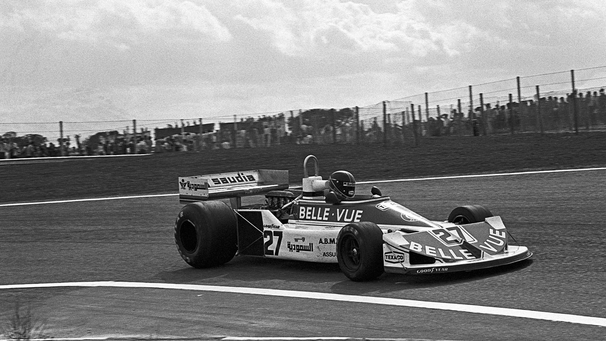 Williams of Patrick Neve in the 1977 Spanish Grand Prix