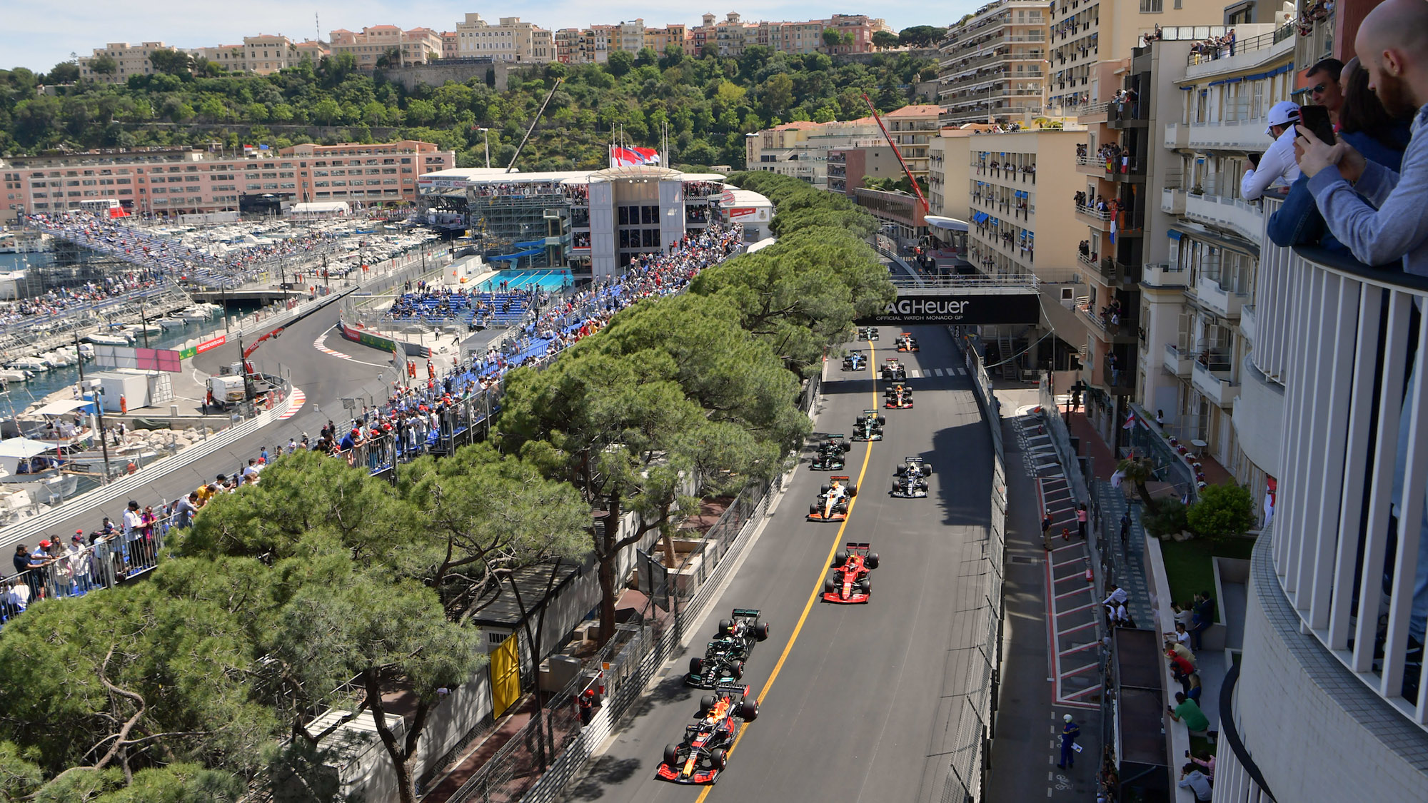 Start of the 2021 Monaco Grand Prix