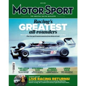 Product image for July 2021 | Racing's Greatest all-rounders | Motor Sport Magazine