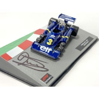 Product image for Jody Scheckter signed Tyrrell P36 six-wheeler, 1:43 scale