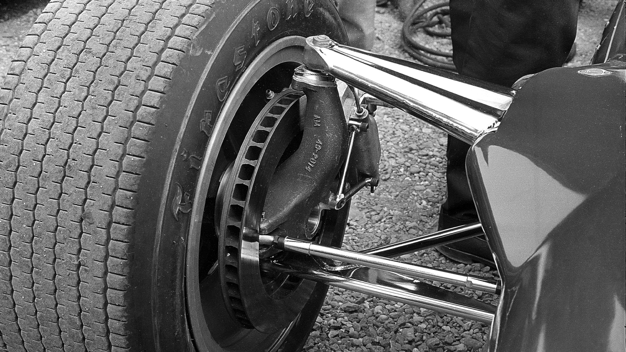 Lotus suspension at Zandvoort in 1957