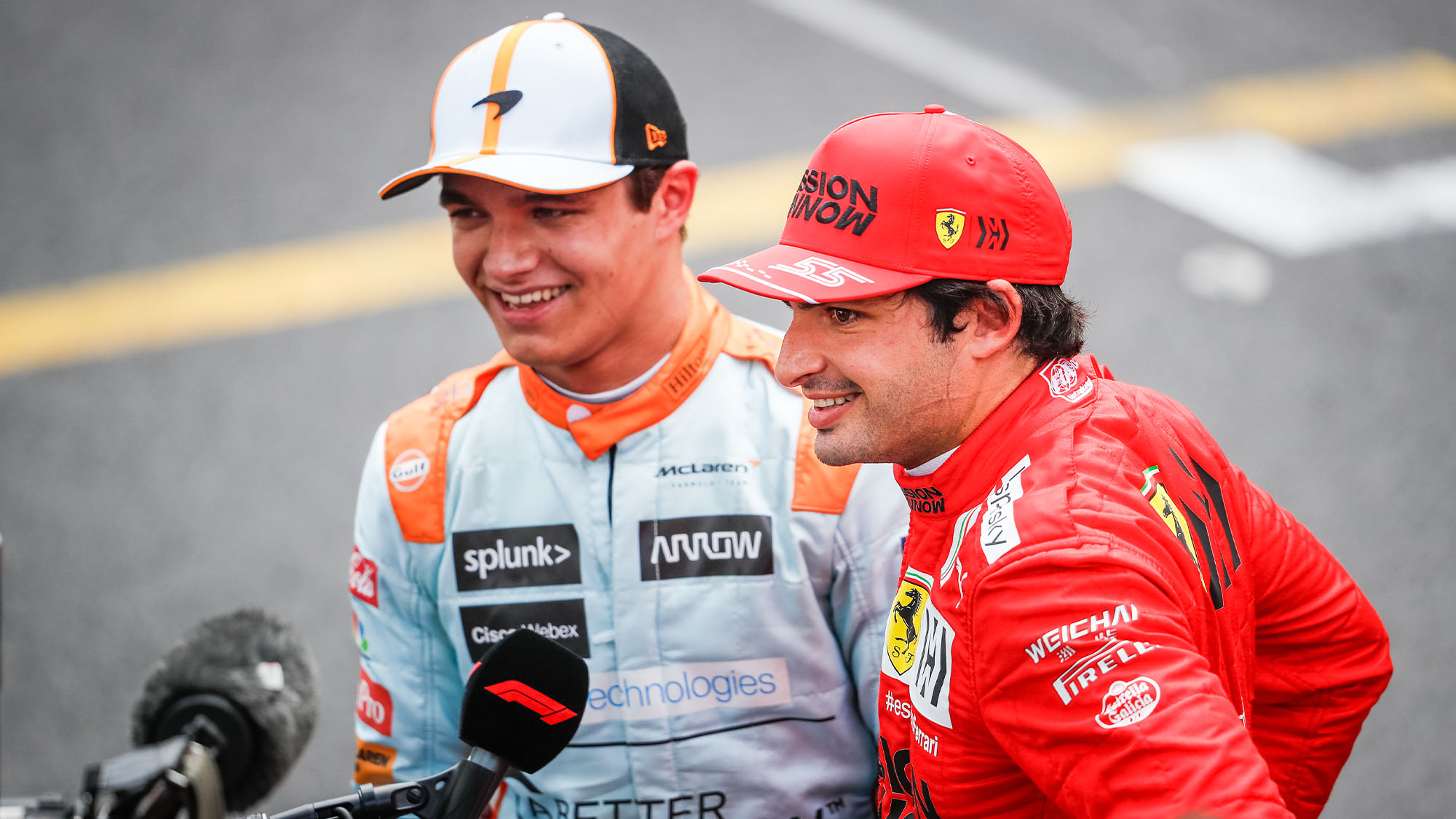 Norris and Sainz Monaco 2021