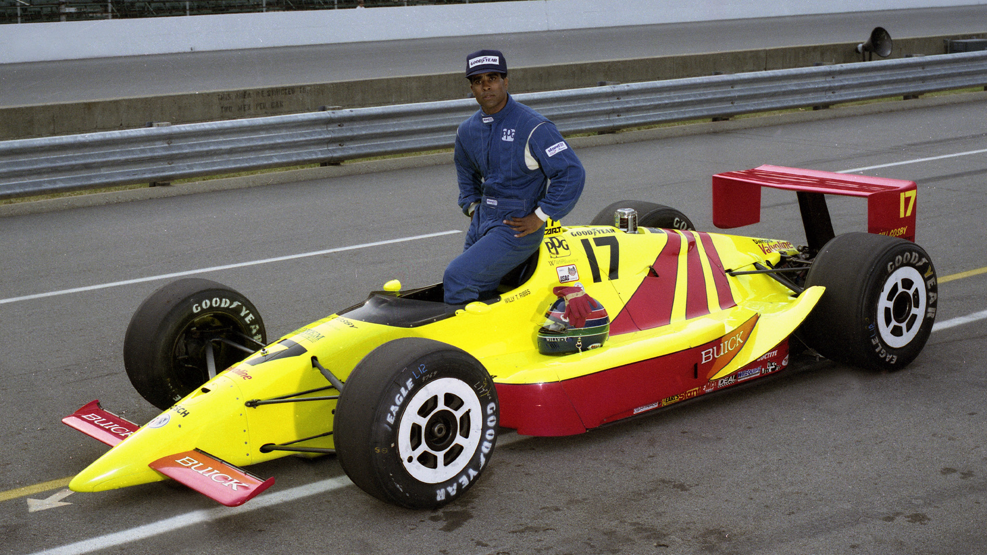 Willy T Ribbs and 1991 Indy 500 car