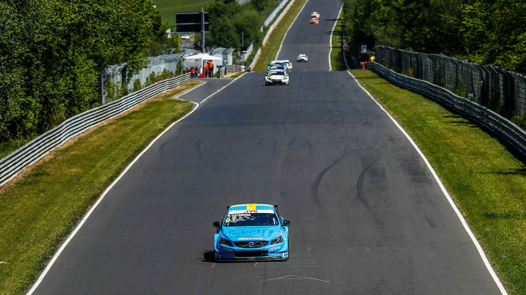 Polestar of Nicky Catsburg leads at the WTCC Nurburgring round in 2017
