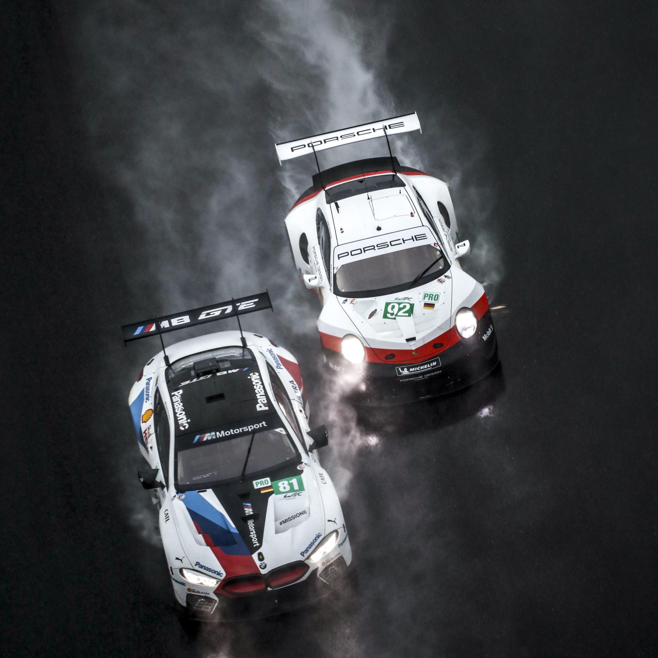 BMW v Porsche at Shanghai in the 2018 WEC season