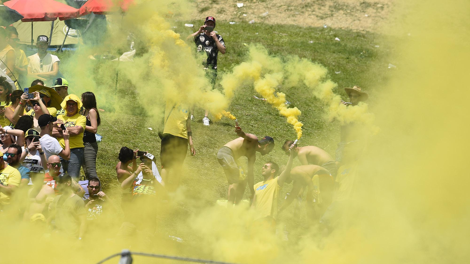 Valentino Rossi fans at Mugello in 2019